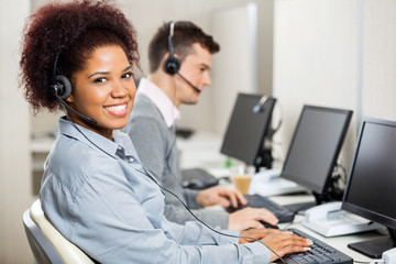 Customer Service Representatives Working In Office
