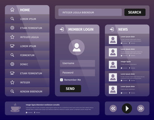 modern purple mobile user interface design