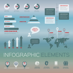 modern set of infographic elements