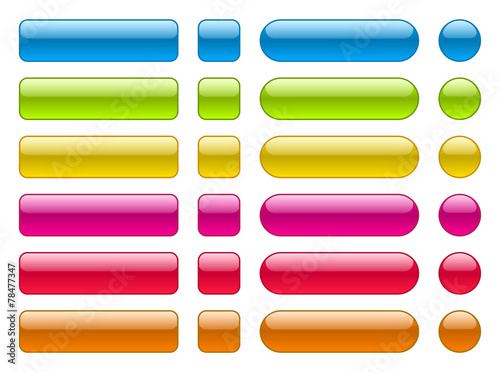collection of blank colorful buttons - 78477347