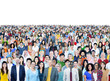 Large Group Diverse Multiethnic Cheerful People Concept