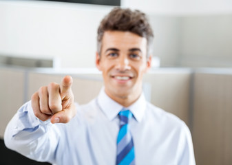 Confident Manager Pointing At You