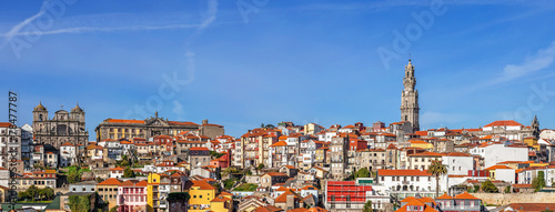 Skyline and cityscape of the city of Porto in Portugal - 78477787