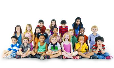 Diversity Childhood Children Innocence Friendship Concept