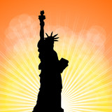 Fototapeta New York - statuła wolności i tło © art_mike