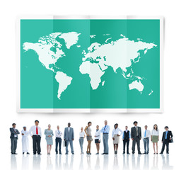 Global Business Cartography Globalization International Concept