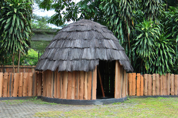 Traditional huts Papuans