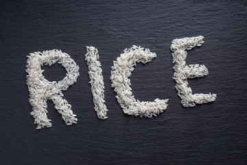 rice spelled out
