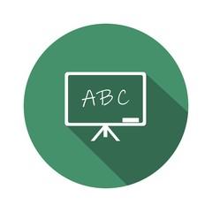 Icono pizarra ABC esmeralda botón sombra