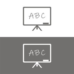 Icono pizarra ABC BN