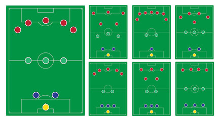 classic soccer formation set