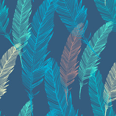 Seamless vector pattern with feather