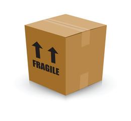 fragile card board box
