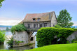 Leinwanddruck Bild - Old mill house on bridge, Seine river, Vernon, Normandy, France
