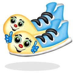 scarpe cartoon