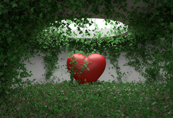 Heart ivy room