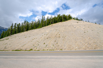 traveling on the Icefield Parkway road in Canada