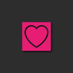 carte, coeur design