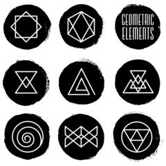 Paint Circles and Geometric Elements