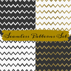Hand Drawn Abstract Seamless Patterns Collection
