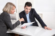 canvas print picture - Erfolgreiches Business Team im Büro: Mann und Frau