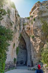 Orecchio di Dionisio,Latomia del Paradiso,Siracusa.