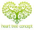 Heart tree concept