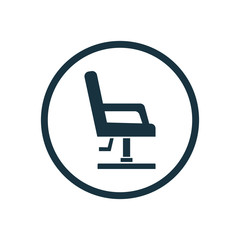barber chair icon.