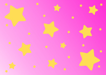 Yellow stars on pink background