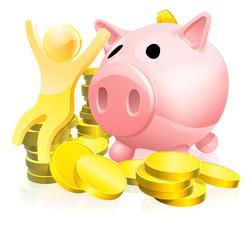 Piggy bank person