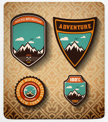 vector. Adventure badge set.All items in layers