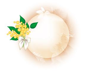 Festa della donna - Cornice con foglie