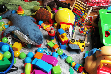 mess in child's room