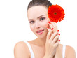 Beauty portrait, make up and manicure, spa concept
