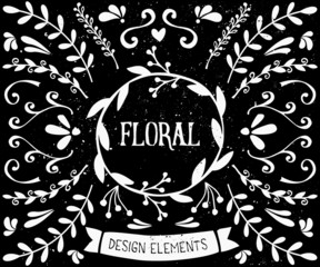 Chalkboard Style Design Elements Collection