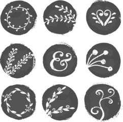 Paint Circles and Decorative Elements