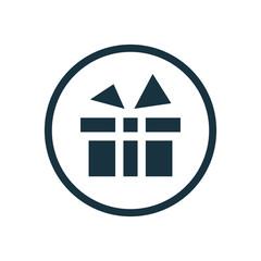 gift icon, round shape