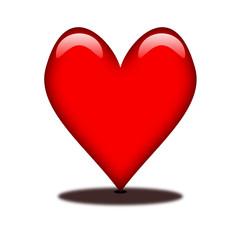 Herz weißer Hintergrund