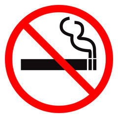 No smoking vector sign.