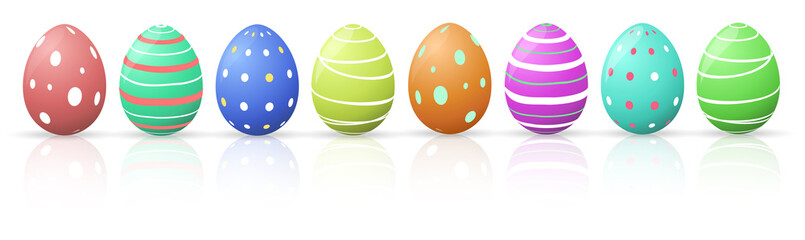 Colourful beautiful Easter Eggs