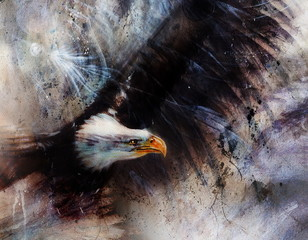 beautiful painting of  eagles on an abstract background