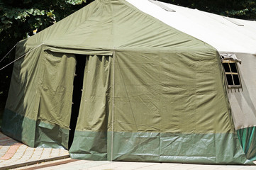 Military tent entrance door