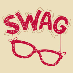 Swag glasses typography t-shirt graphics