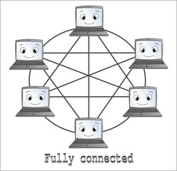Fully connected network topology