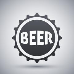 Vector beer bottle cap icon