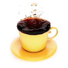 Mug with splash of tea