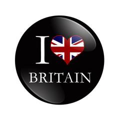 I Love Britain button