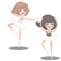 Dance of girls.