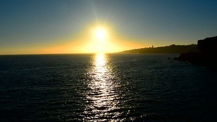 Sun reflecting off the sea