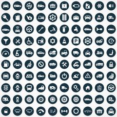100 auto icons.